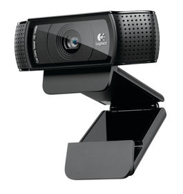 WEBCAM LOGITECH HD PRO C920 - LENTE CRISTAL FULL HD - GRABACIONES 1080P - AUDIO ESTEREO - CLIP UNIVERSAL - CABLE USB 1.83M
