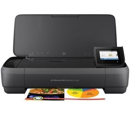 MULTIFUNCION WIFI PORTATIL HP OFFICEJET 250 MOBILE AIO - IMPRESION SIN BORDES - SCAN 600PPP - BATERIA - USB - CART 62 BK/COLOR XL
